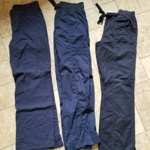 3 Piece Navy Scrub Pants Lot